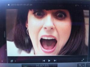 Michelle as Katherine Middleton in the trailer for Arachno Sapiens